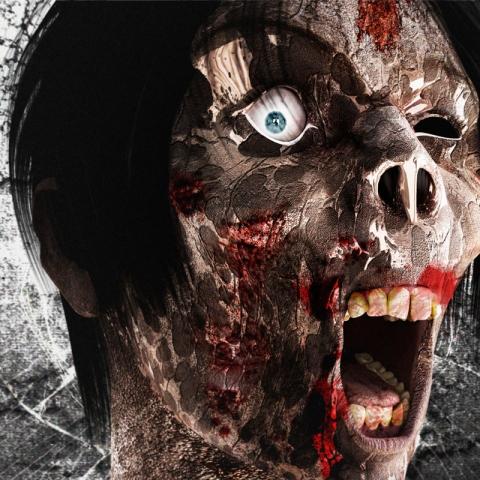 Zombie Face 3D