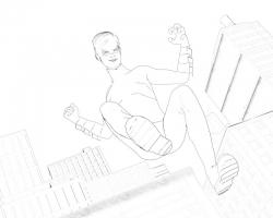 nightwing-toon-render-scene-line2-06