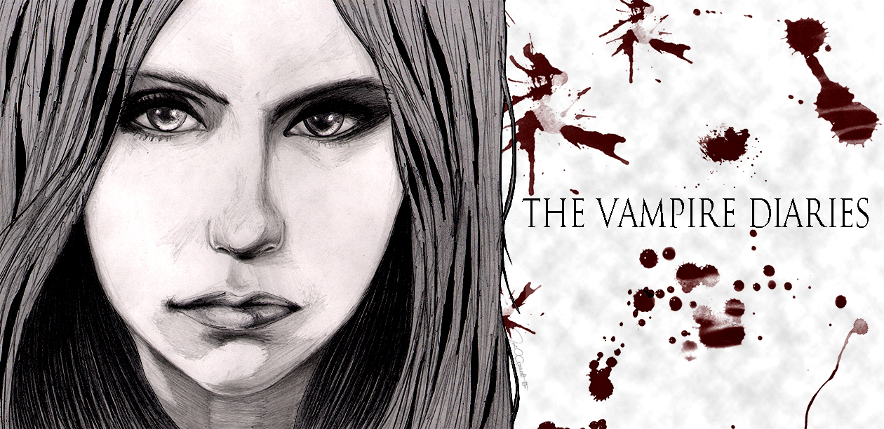 Pencil drawing of Elena from The Vampire Diaries