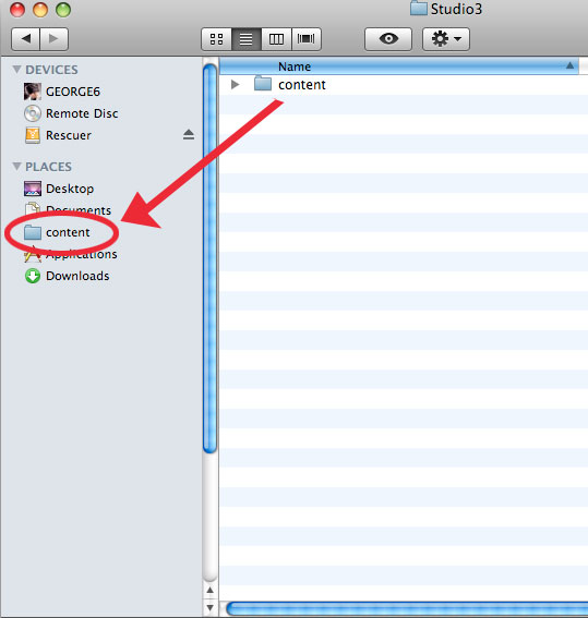 Adding a folder to your sidebar on the Mac