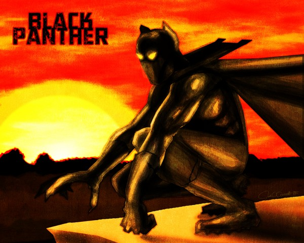 The Black Panther art by John Garrett