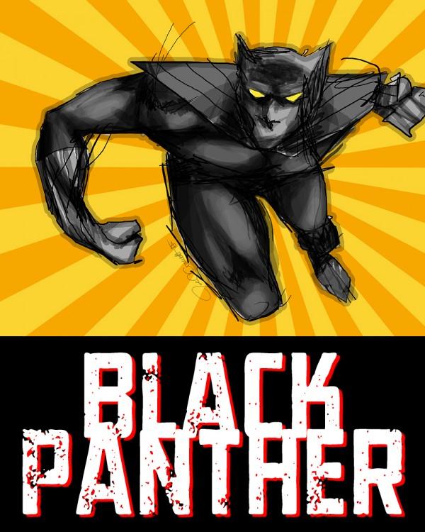 The Black Panther art by John Garrett