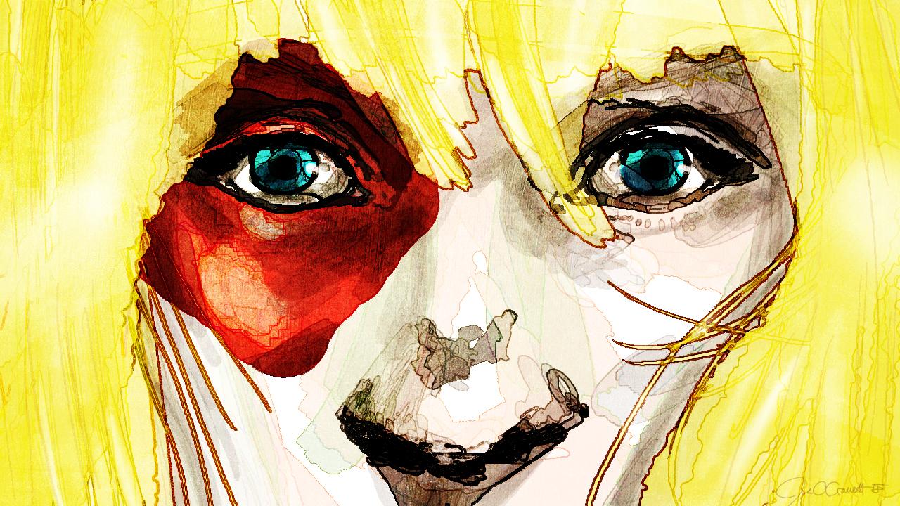 digital face drawing