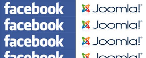 Facebook & Joomla logos