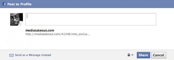 A boring facebook share