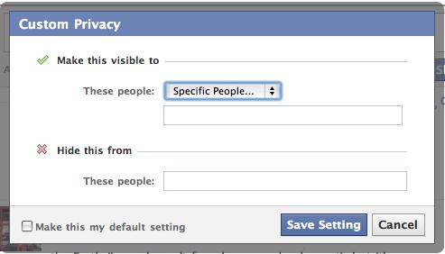 specific people field