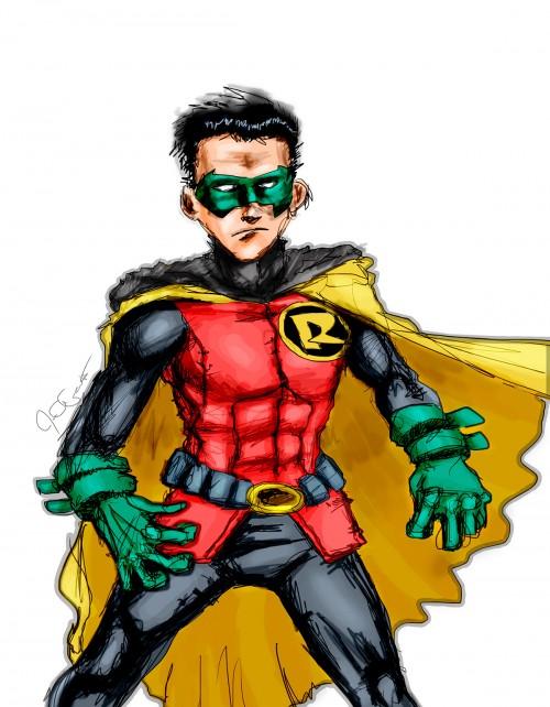 Wacom sketch of Robin (Damian Wayne)