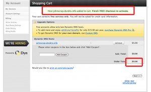 Add hostname to cart