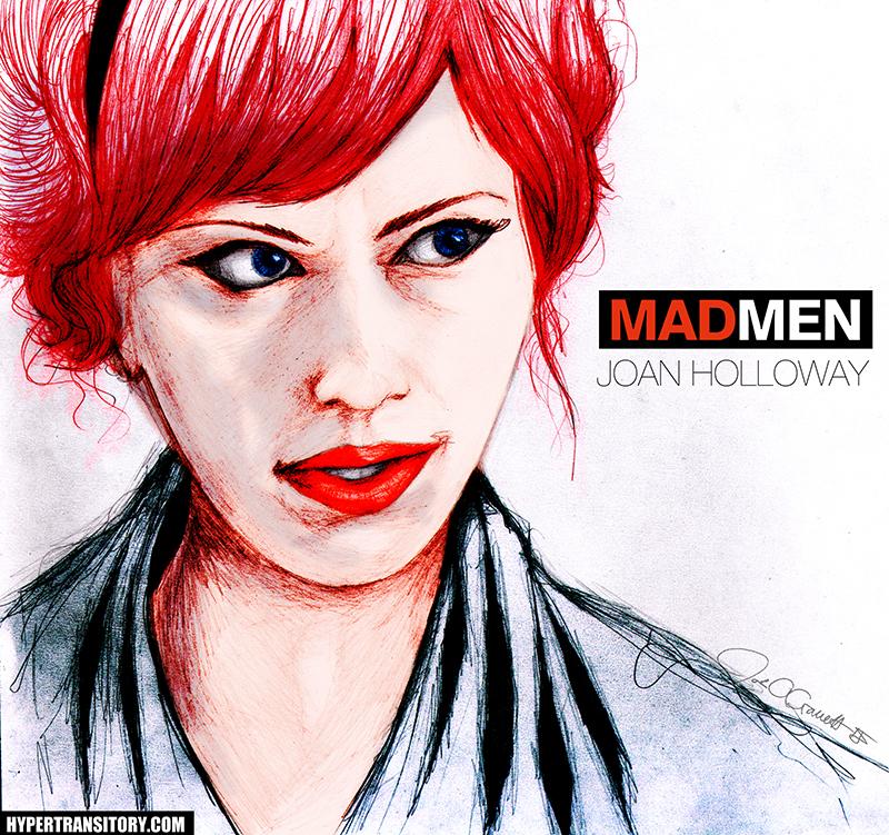 Joan Holloway from Mad Men by John Garrett
