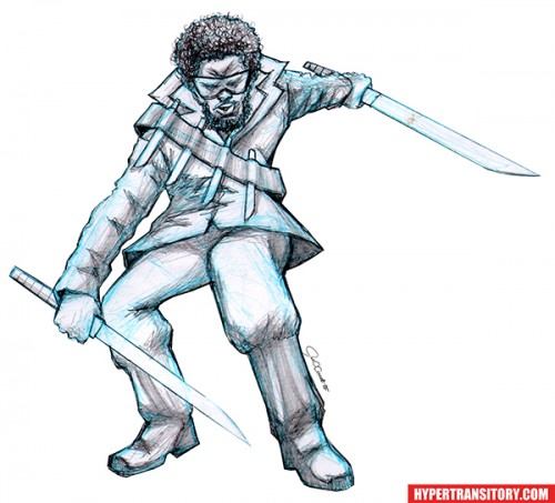 Blade pencil art by John Garrett