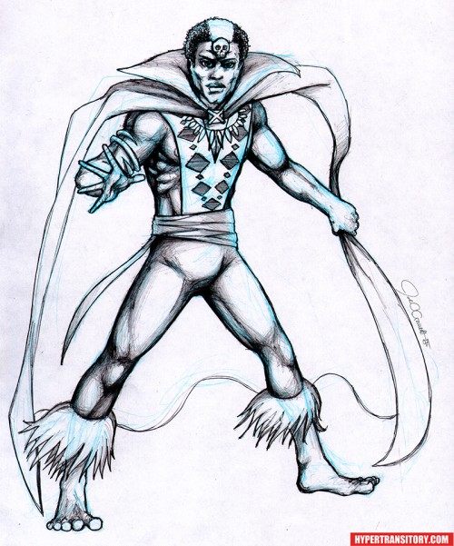 Brother-Voodoo-pencil art by John Garrett