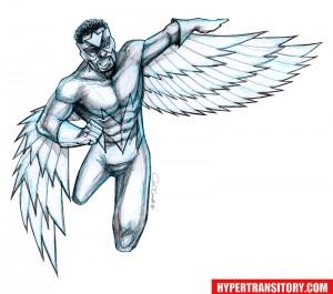 The Falcon-pencil art by John Garrett