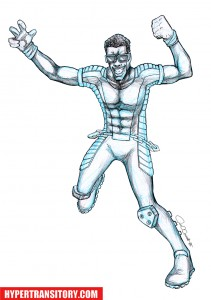 Power-Man-pencil art by John Garrett
