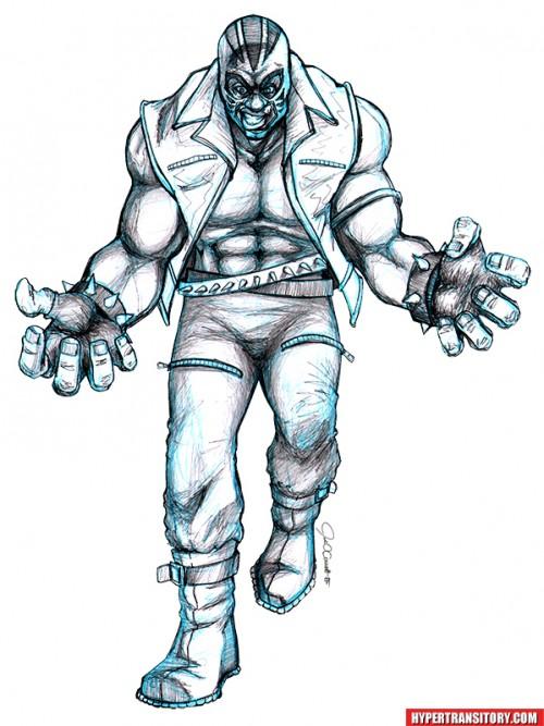 Marvel Comics RAGE pencil art by John Garrett