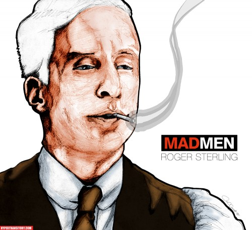 Roger Sterling art by John Garrett
