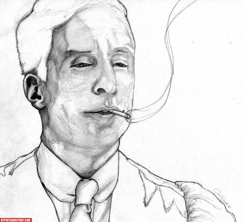 Roger Sterling pencil art by John Garrett