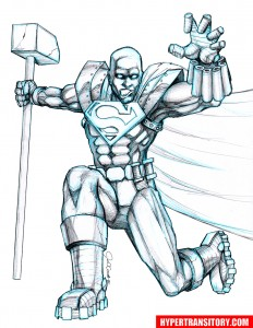 STEEL-pencil art by John Garrett