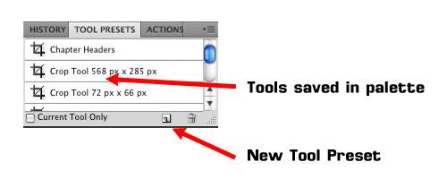 Tool Presets Photoshop Palette