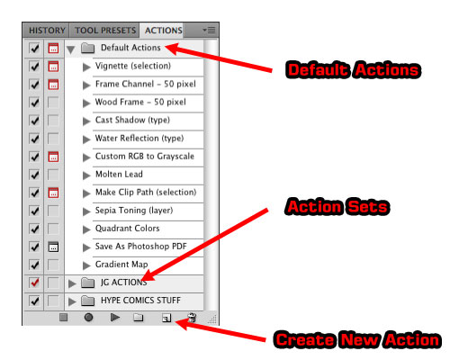 Photoshop Actions Palette