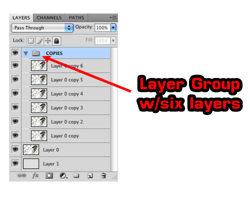 Photoshop Layer Group