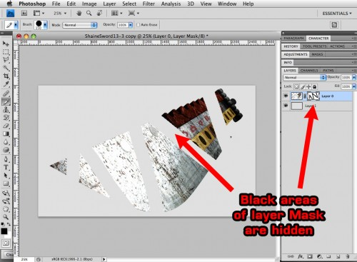 photoshop layer mask in use