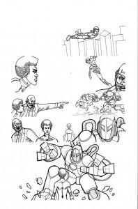 Kid Hype Monday Comics inked