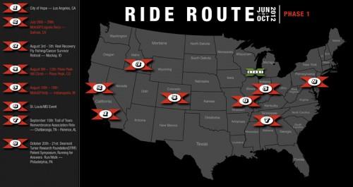 Destination X Ride map route