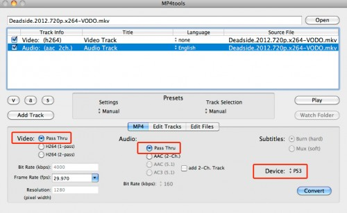 MP4Tools converts MKV to MP4 without losing quality