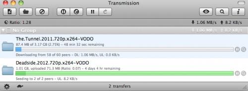 Transmission Bittorrent client