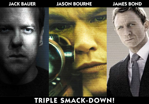 Jack Bauer vs Jason Bourne vs James Bond!