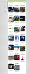 Feedly *Cards* style thumbnails layout