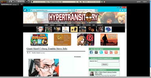 My site as viewed using IE10 via Saucelabs