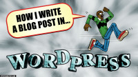 how I write a wordpress blog post