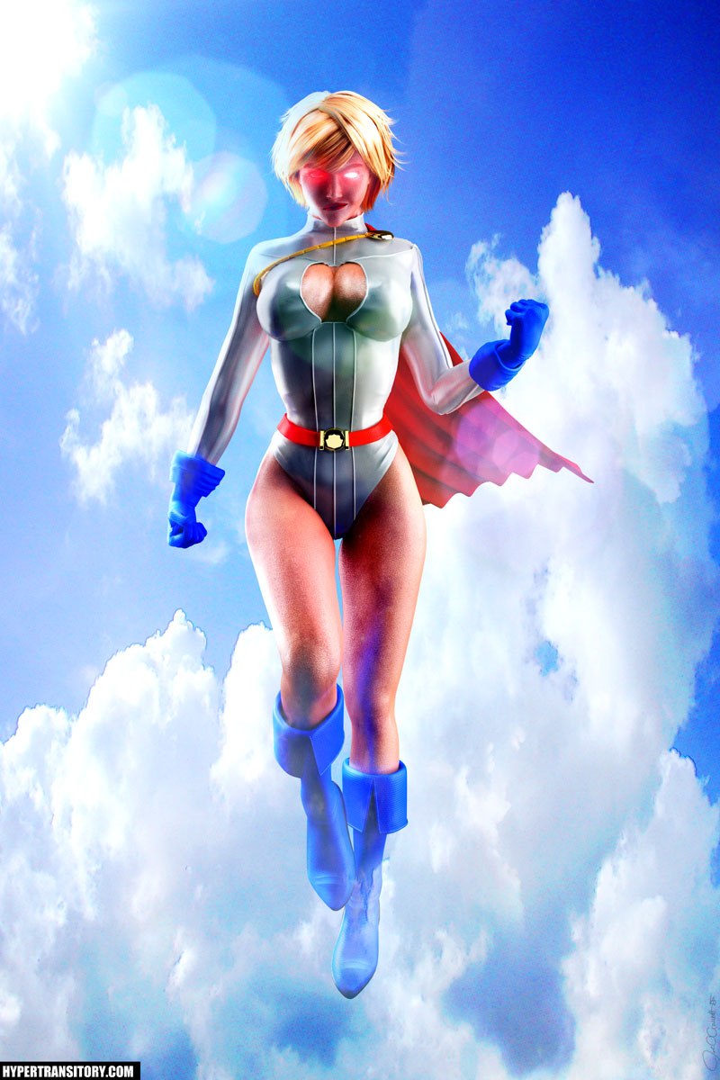 Power Girl Hover Pose