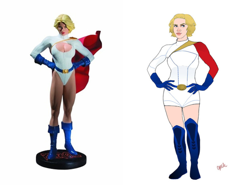 Power Girl Illustration by Celeste Pille for BuzzFeed