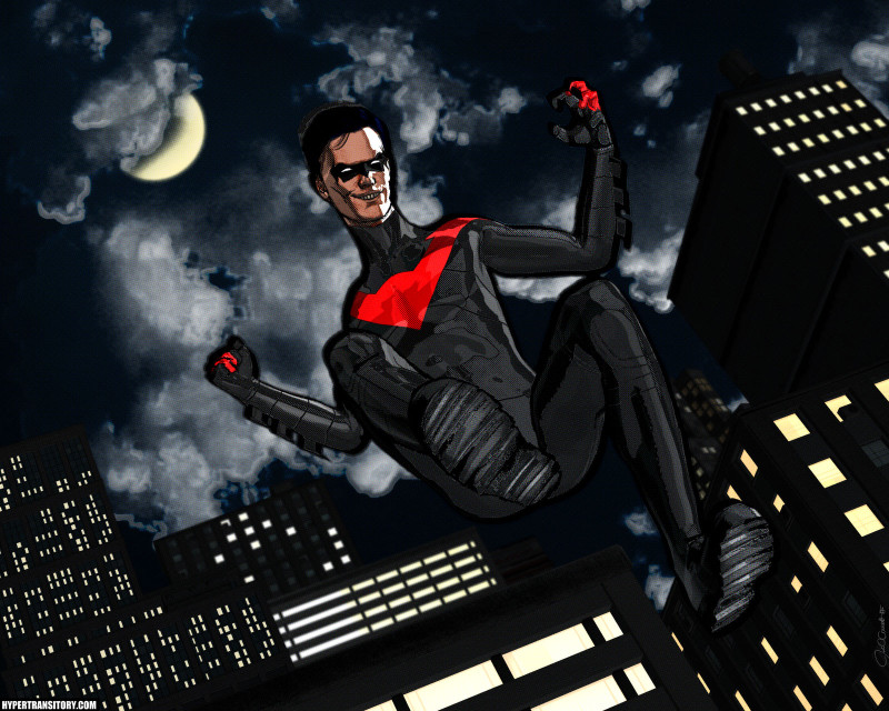 Nightwing cartoon render from Daz Studio