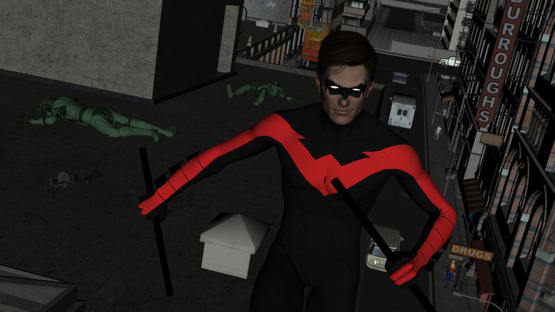 Nightwing render from Daz Studio