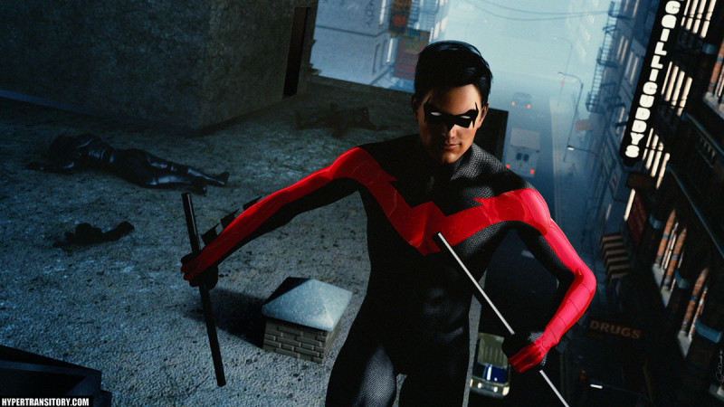 Nightwing in 3D