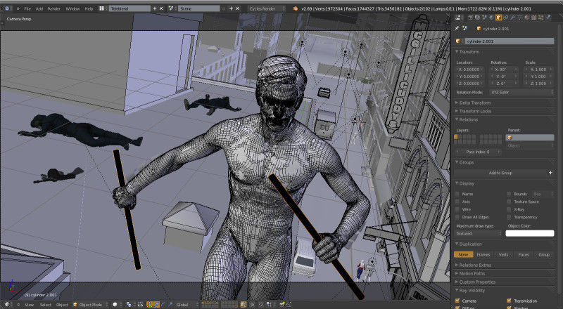 Nightwing-Scene-blender