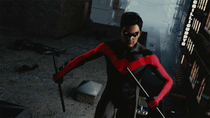 Nightwing raw render from render Street