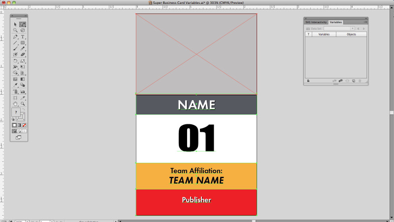 Adobe Illustrator variable Data setup