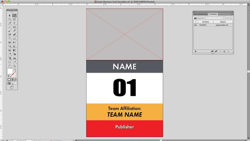 Adobe Illustrator variable Data test image