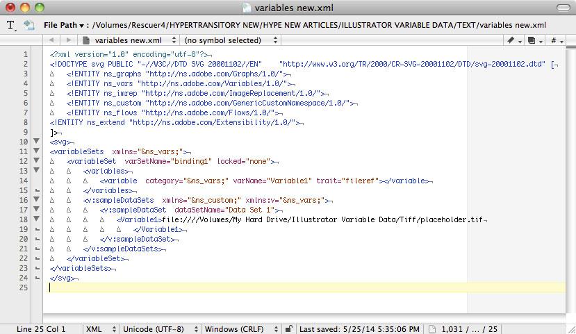 Adobe Illustrator variable Data  image path