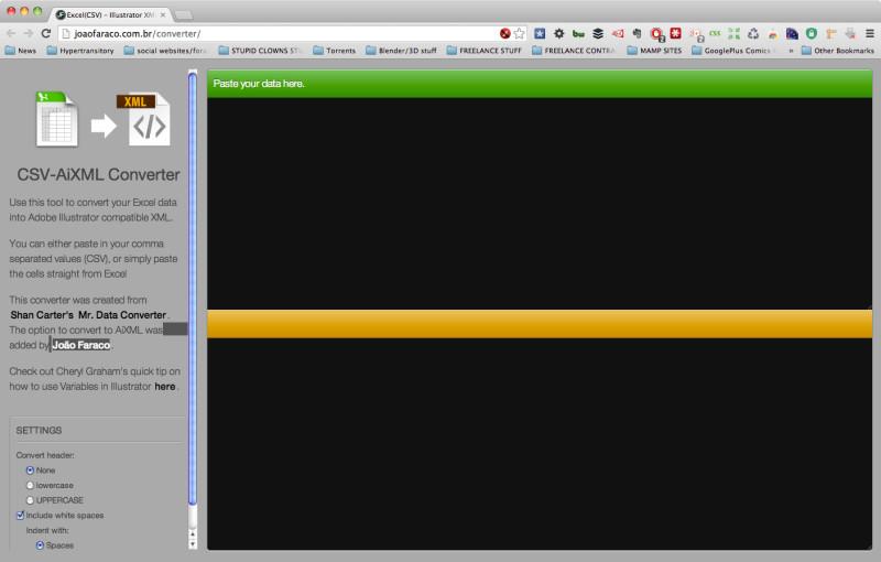 Adobe Illustrator variable Data online converter